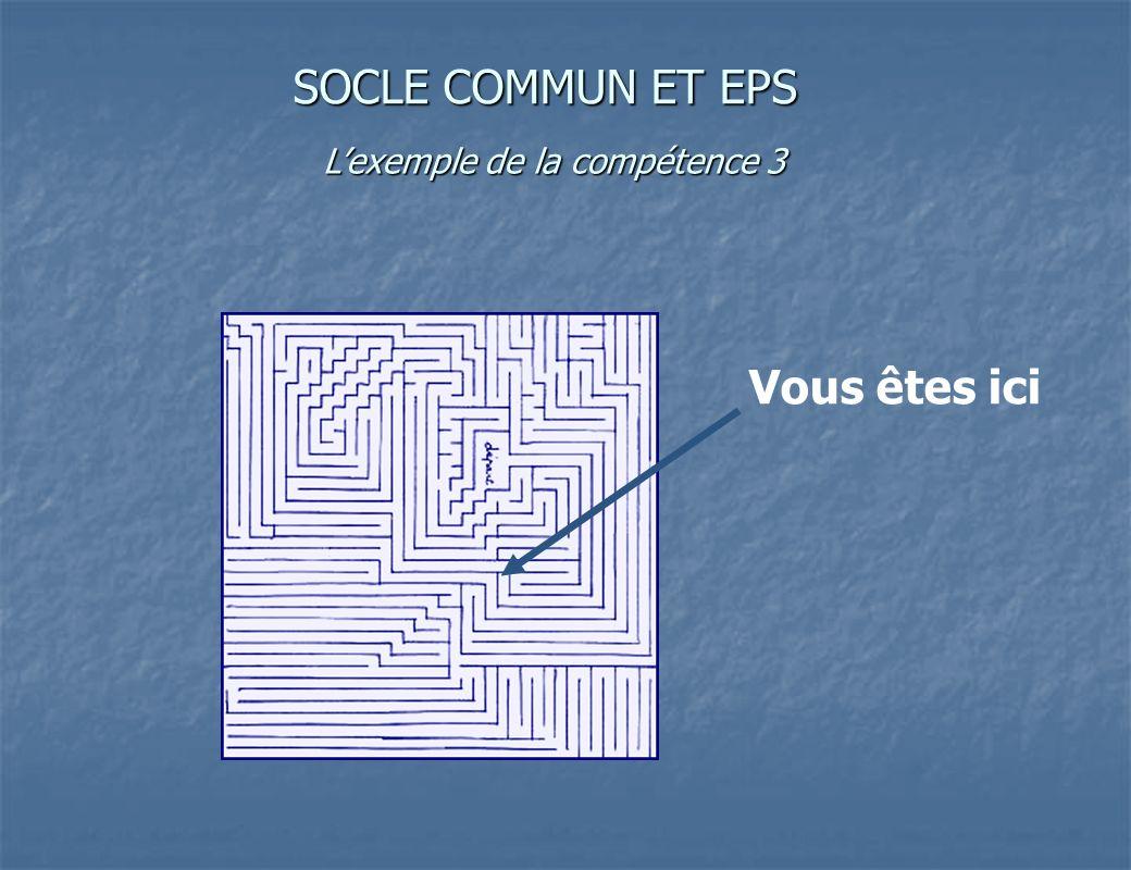 Vous êtes ici SOCLE COMMUN ET EPS Lexemple de la compétence 3