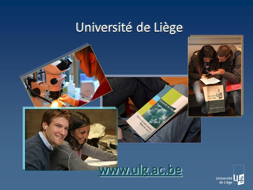 Université de Liège www.ulg.ac.bewww.ulg.ac.be