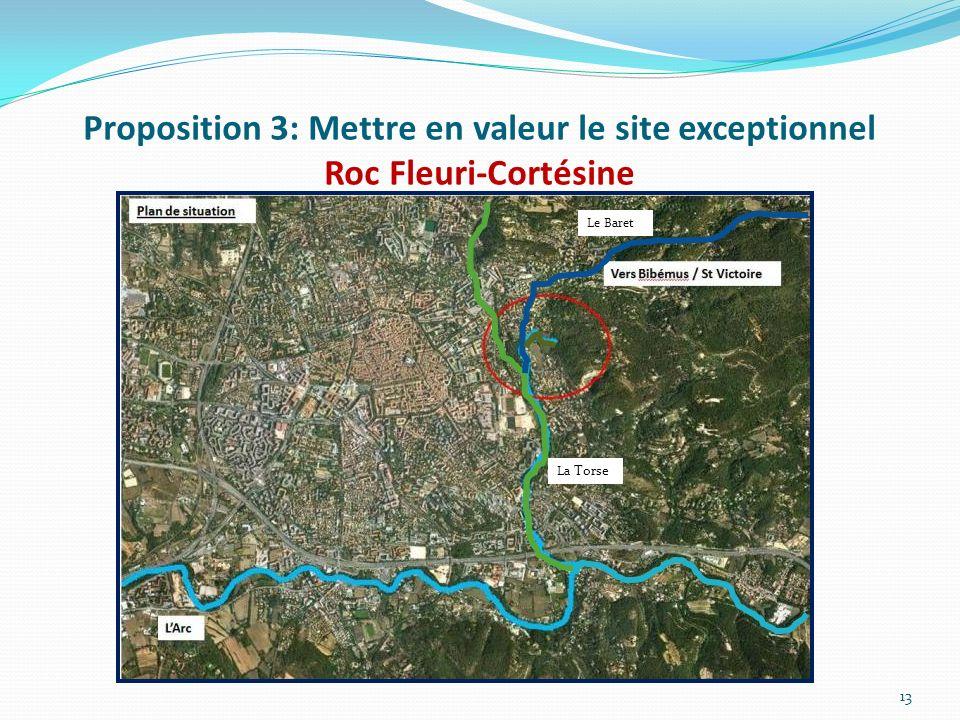 Proposition 3: Mettre en valeur le site exceptionnel Roc Fleuri-Cortésine 13 La Torse Le Baret