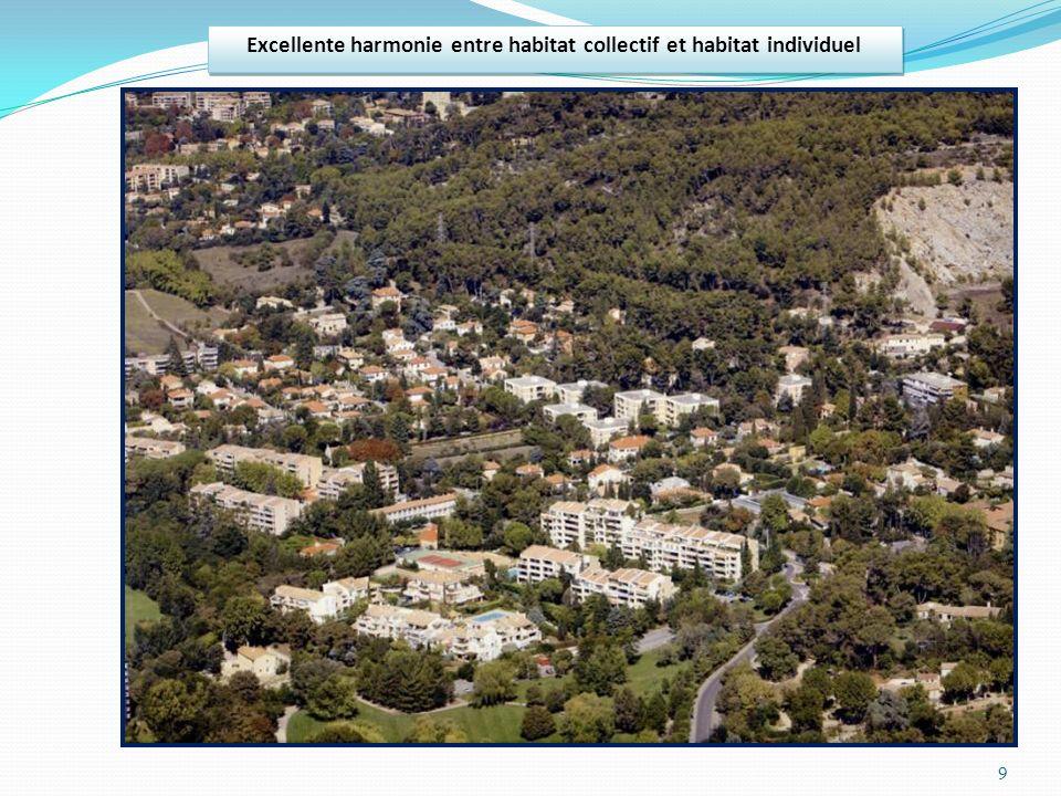 9 Excellente harmonie entre habitat collectif et habitat individuel