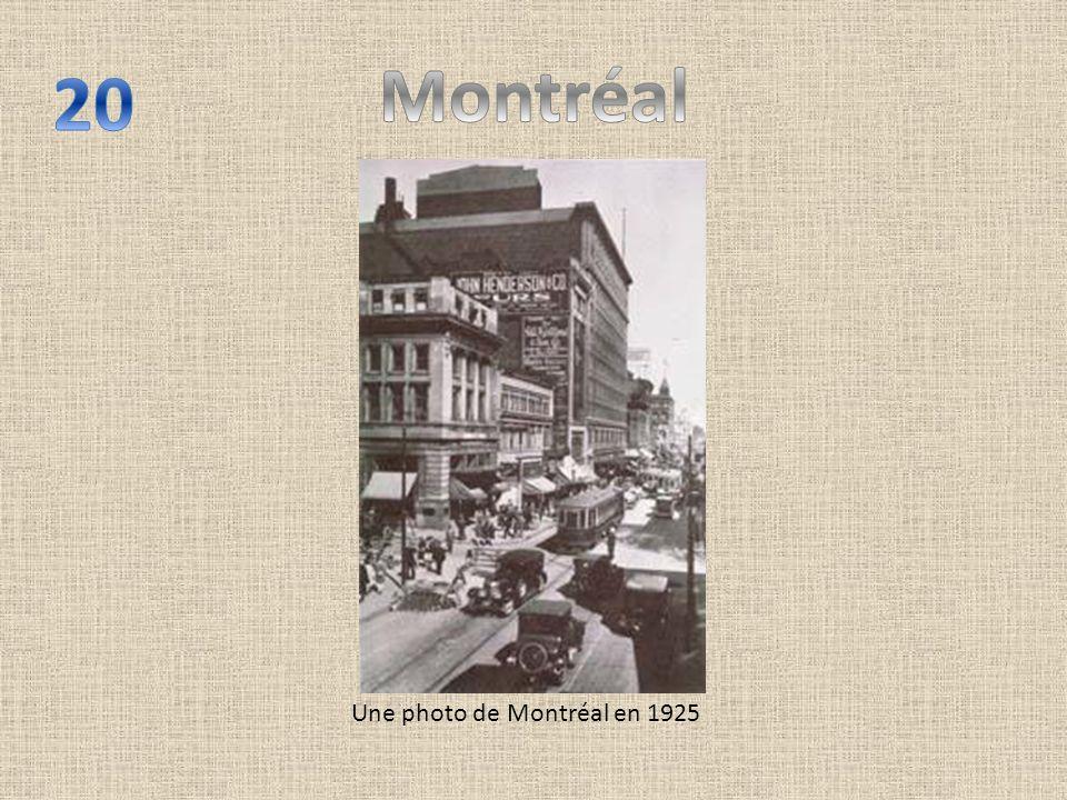 Une photo de Montréal en 1925