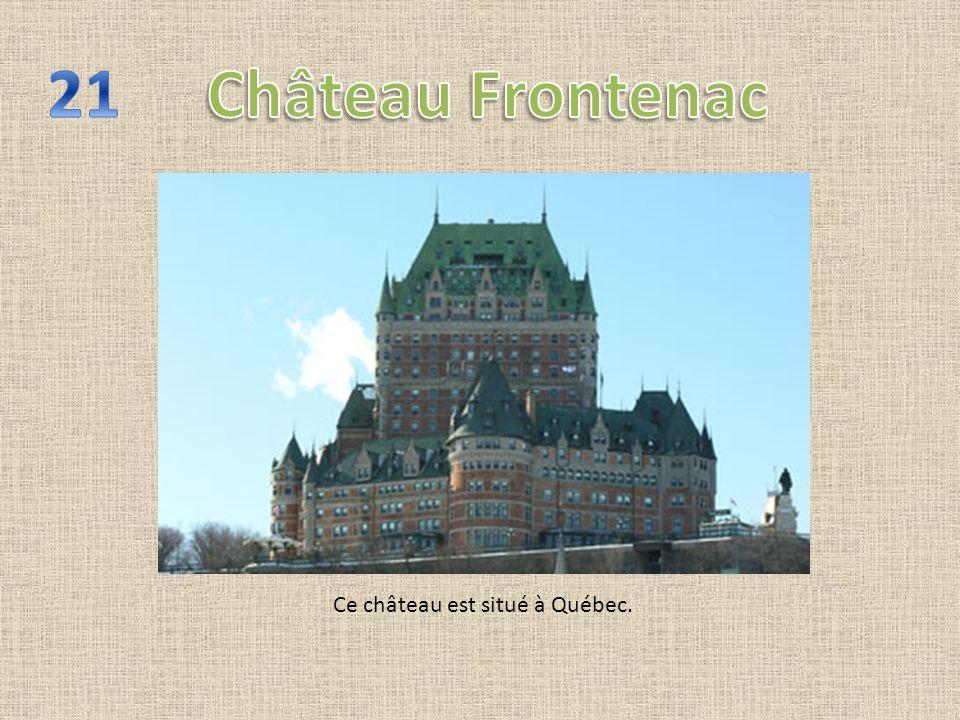 Ce château est situé à Québec.