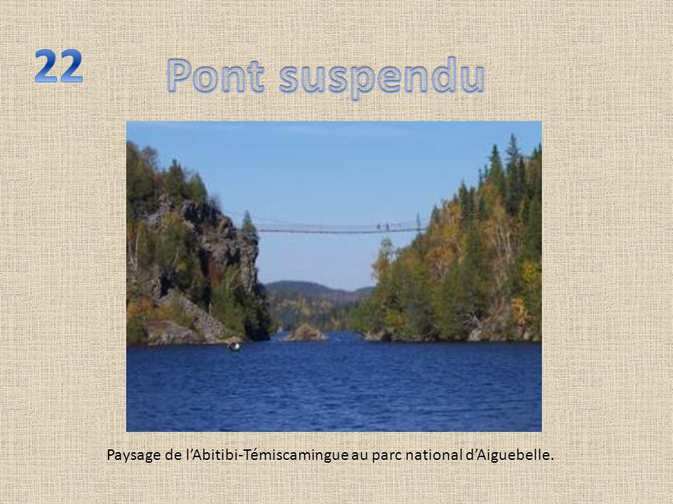 Paysage de lAbitibi-Témiscamingue au parc national dAiguebelle.
