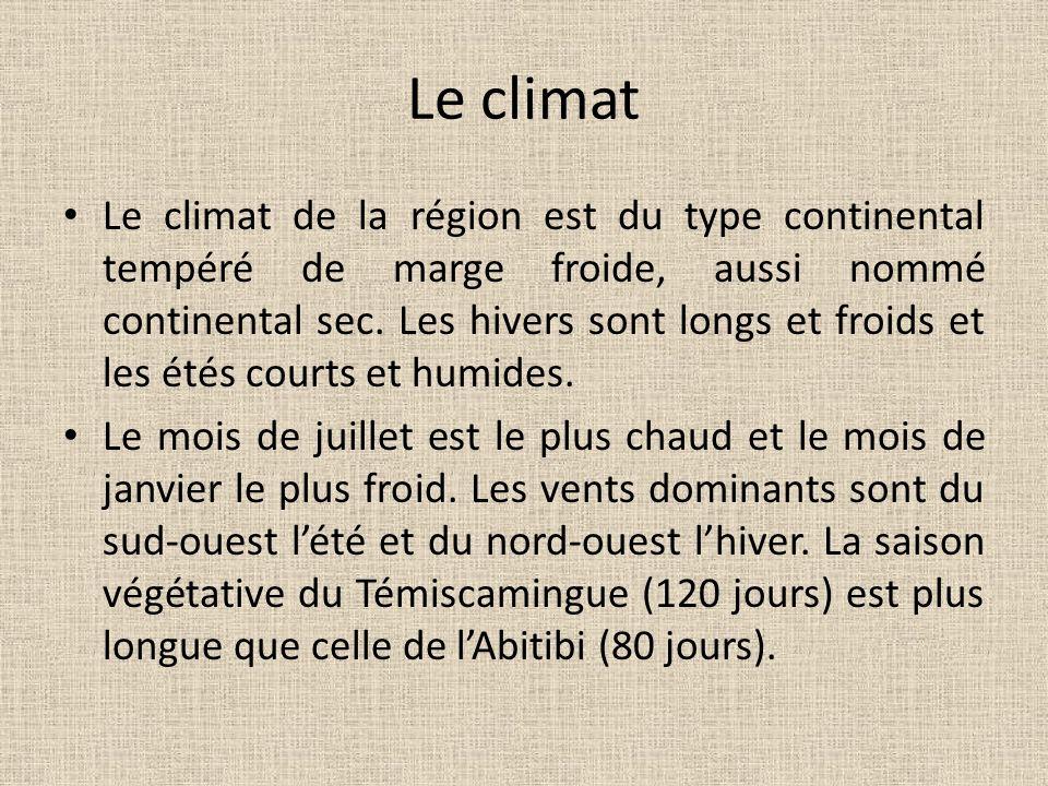 Le climat Le climat de la région est du type continental tempéré de marge froide, aussi nommé continental sec. Les hivers sont longs et froids et les