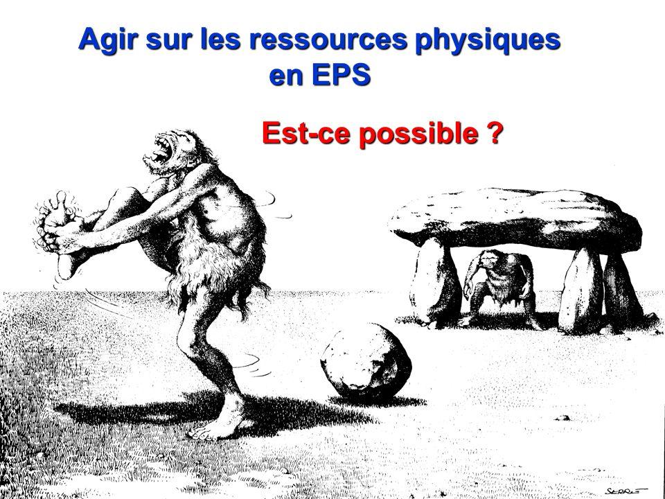 Est-ce possible ? Agir sur les ressources physiques en EPS