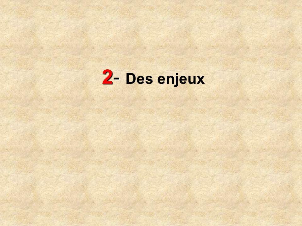 2- 2- Des enjeux
