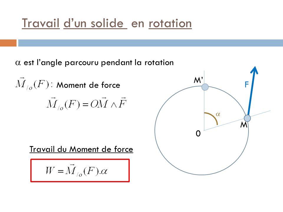 Théorème de lEnergie Cinétique Le théorème de lénergie cinétique énonce : La variation dEnergie Cinétique est due à la somme des travaux des Forces Externes et des travaux des Forces Internes.