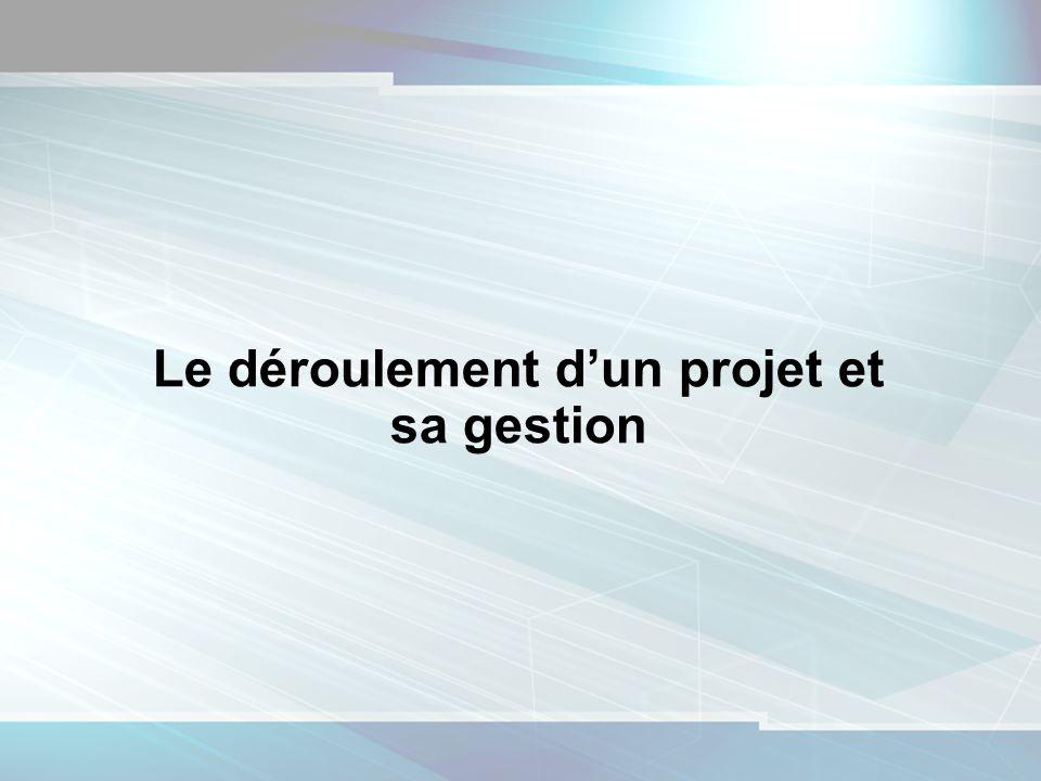 1 Le déroulement dun projet et sa gestion