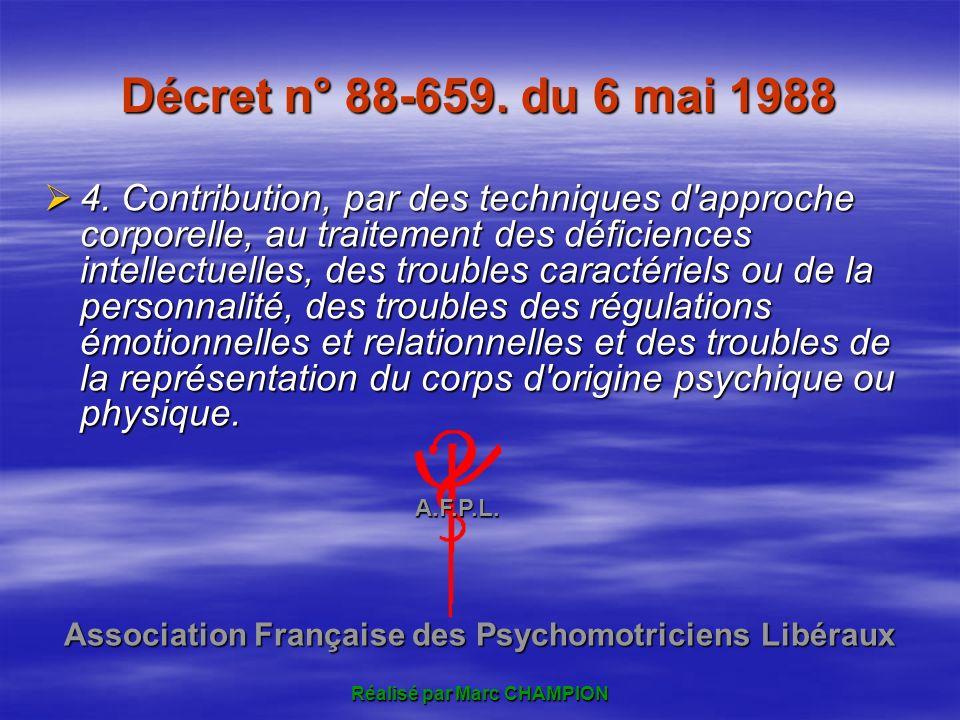 Décret n° 88-659.du 6 mai 1988 4.