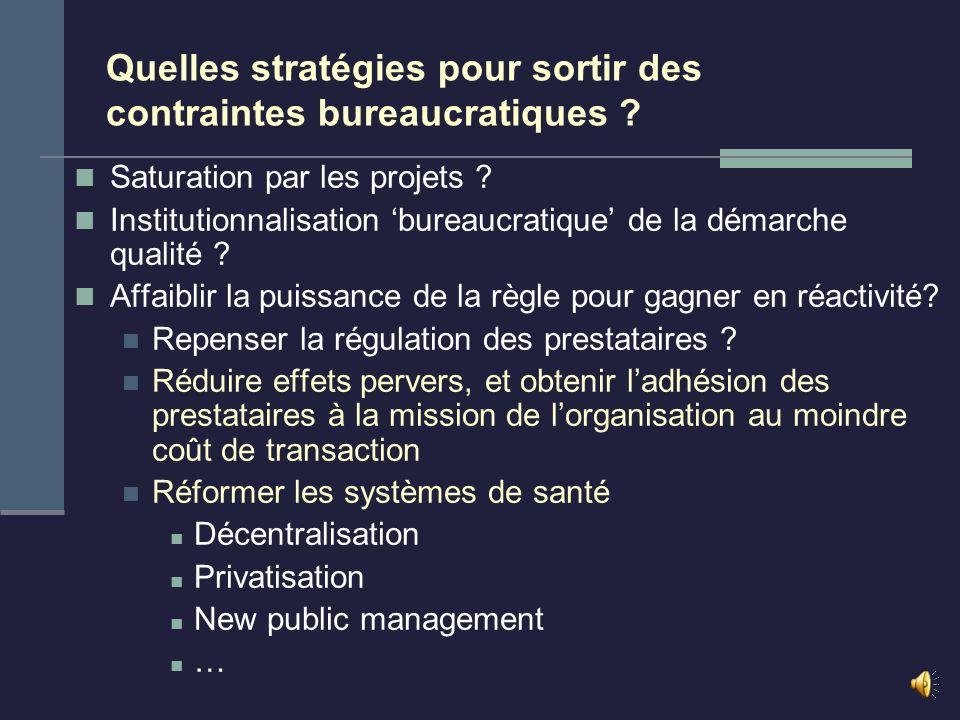 Leçon principale La démarche qualité renforce la bureaucratie par son pole de conformité aux normes. et la bouscule par son pole dynamique de changeme