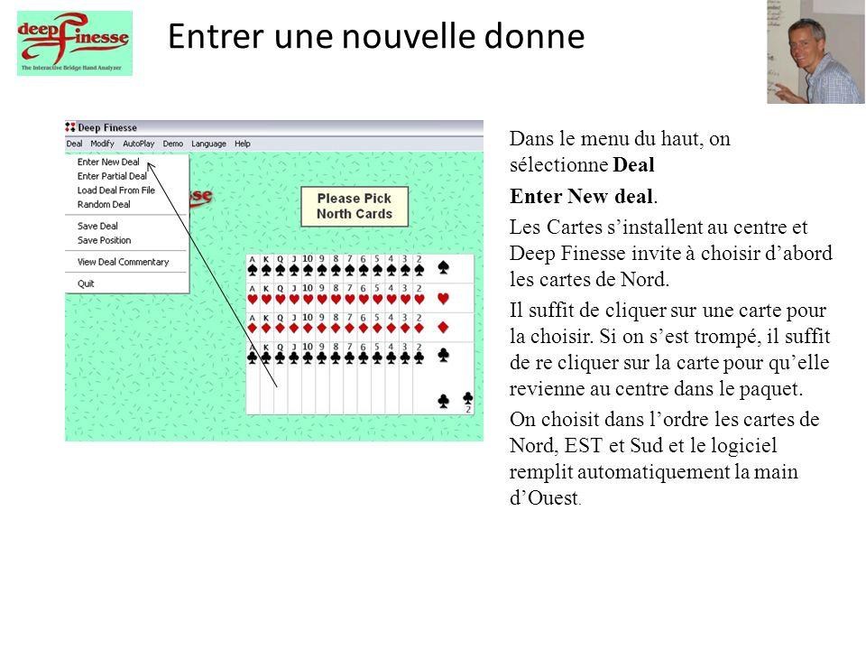 Deep Finesse en français Dans le menu du haut, on sélectionne Language et Français