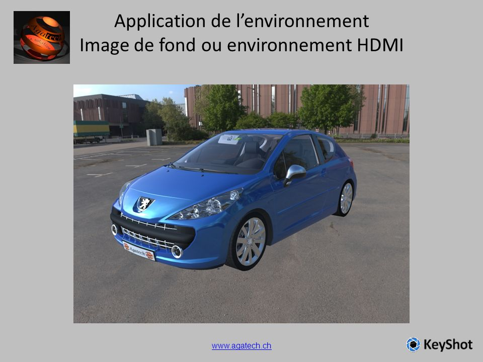 Application de lenvironnement Image de fond ou environnement HDMI www.agatech.ch