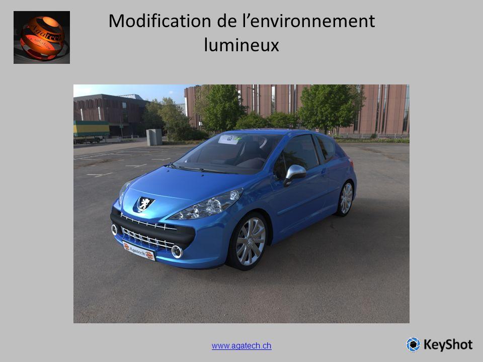 Modification de lenvironnement lumineux www.agatech.ch