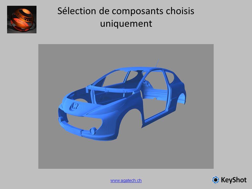 Sélection de composants choisis uniquement www.agatech.ch