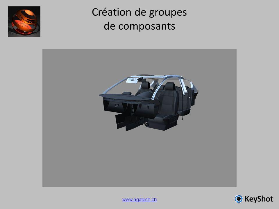 Création de groupes de composants www.agatech.ch