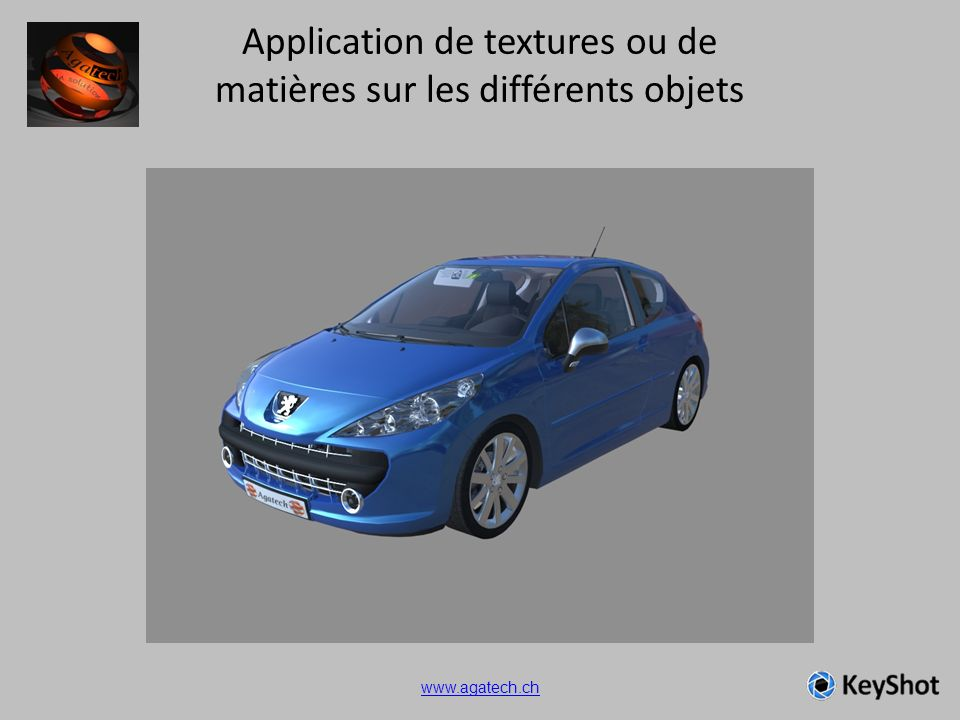 Application de textures ou de matières sur les différents objets