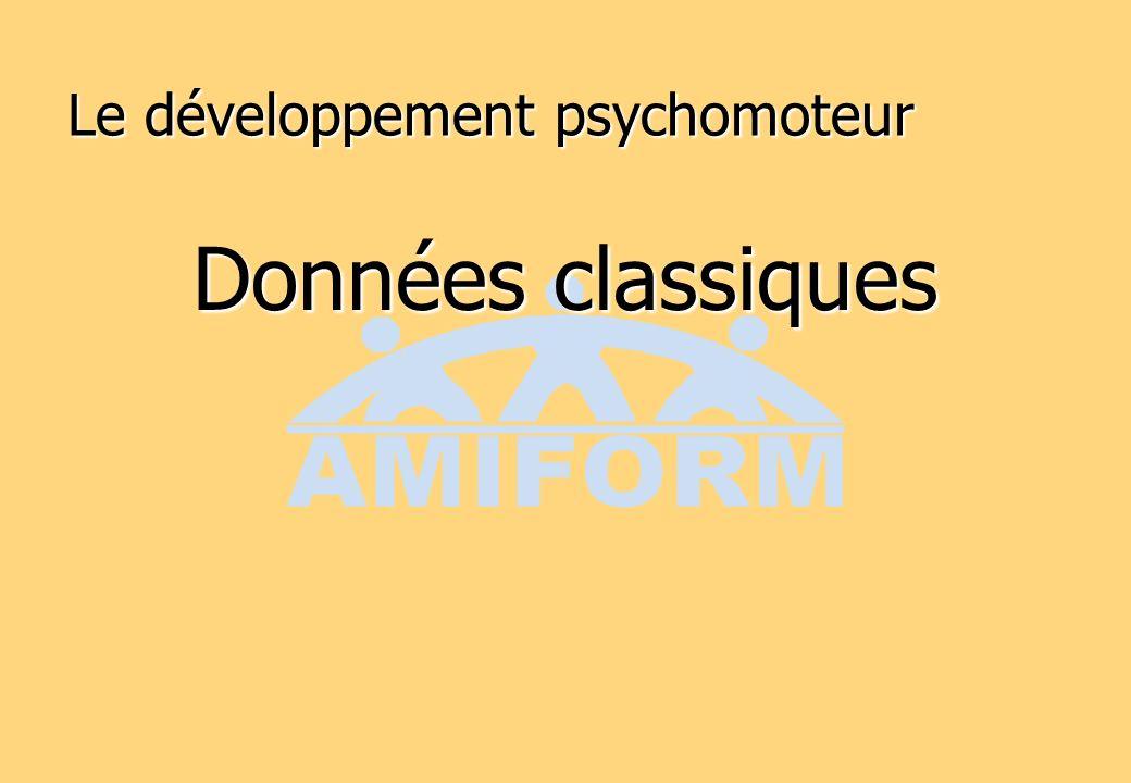 Le développement psychomoteur Données classiques