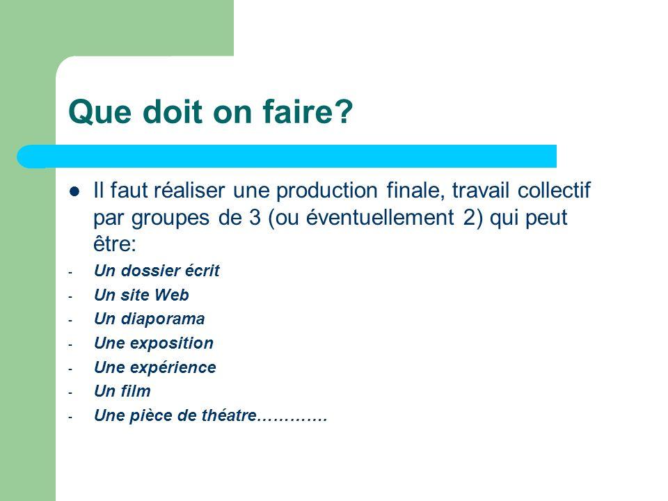 Evaluation des TPE –fin- 2 - Une épreuve orale, pour 12 points sur 20.