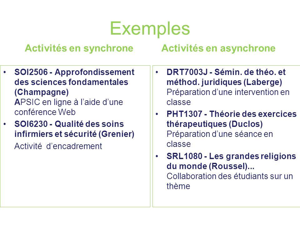 Exemples Activités en synchrone SOI2506 - Approfondissement des sciences fondamentales (Champagne) APSIC en ligne à laide dune conférence Web SOI6230