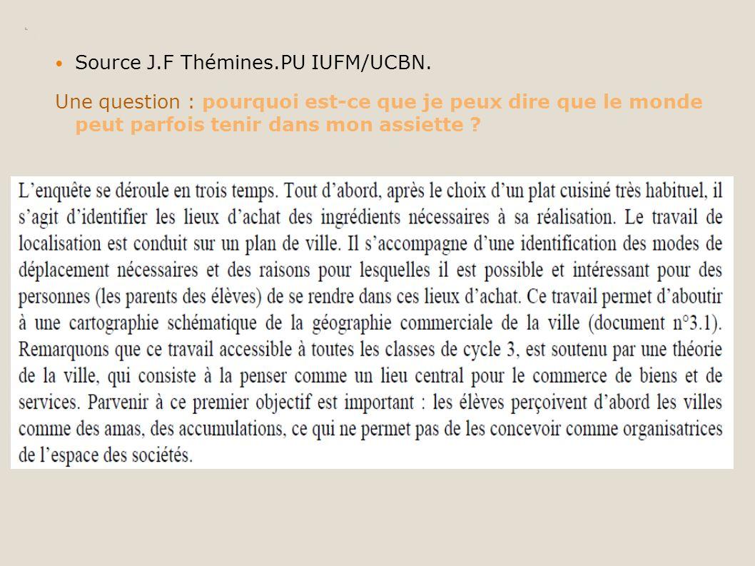 Source J.F Thémines.PU IUFM/UCBN.