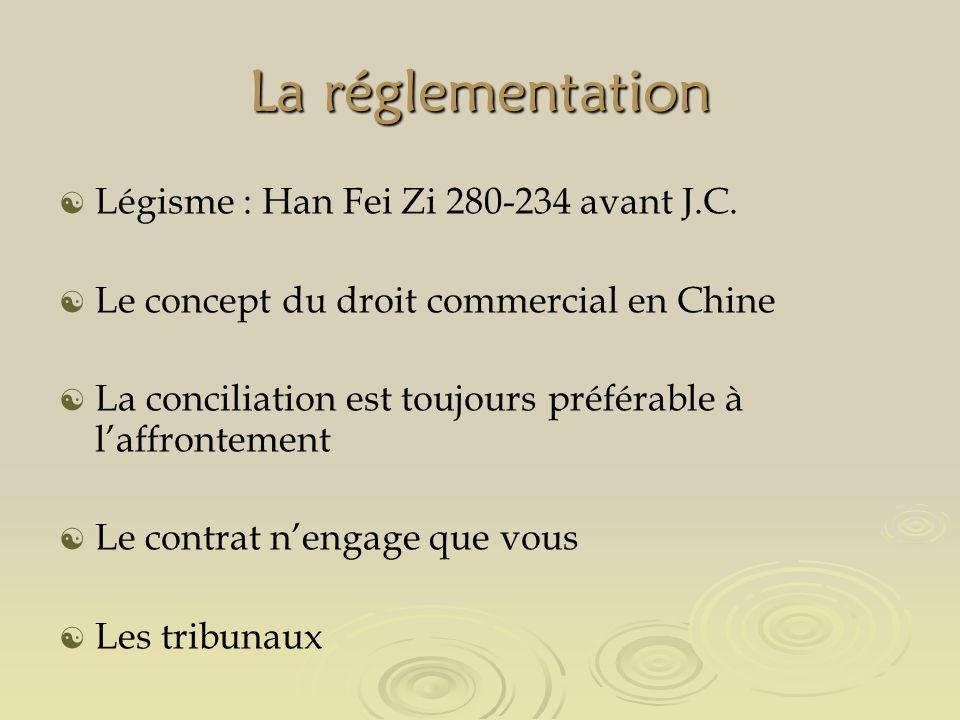 La réglementation Légisme : Han Fei Zi 280-234 avant J.C.
