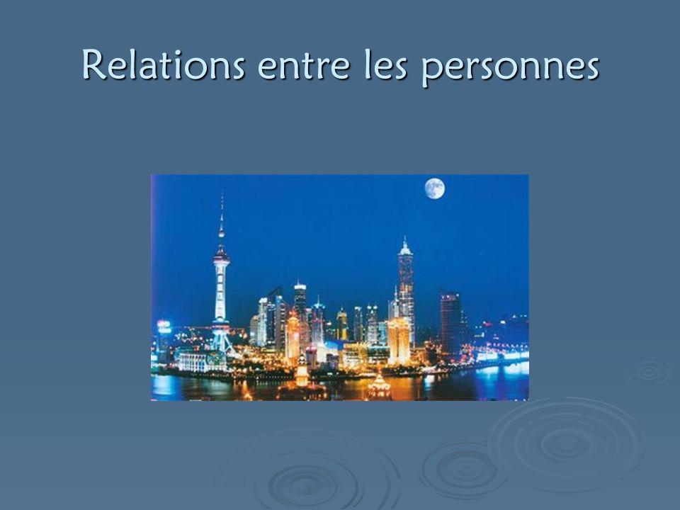 Relations entre les personnes