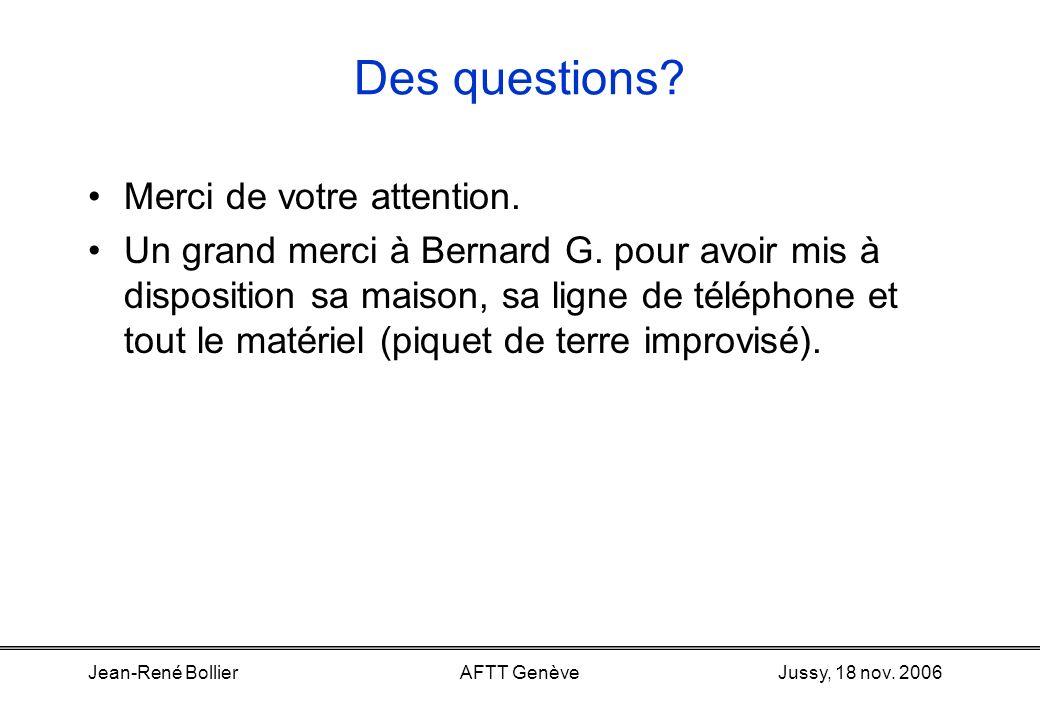 Jussy, 18 nov. 2006Jean-René BollierAFTT Genève fusibleséclateurs a1 b1 abab Protection Le parafoudre –Sert à protéger l'appareil téléphonique (utilis
