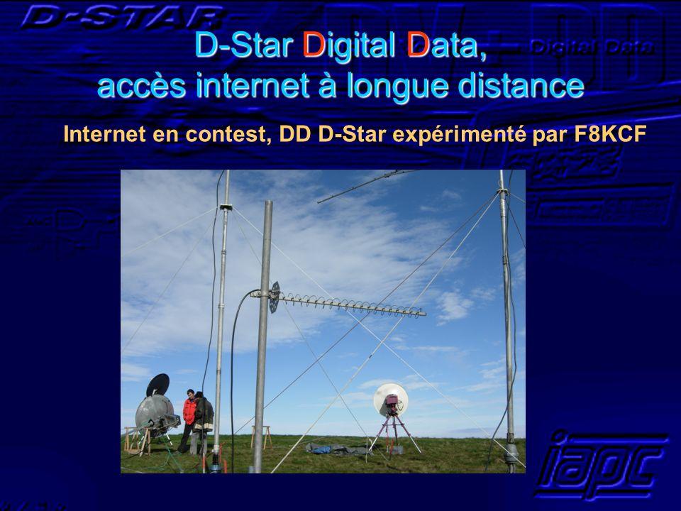 D-Star Digital Data, accès internet à longue distance Internet en contest, DD D-Star expérimenté par F8KCF