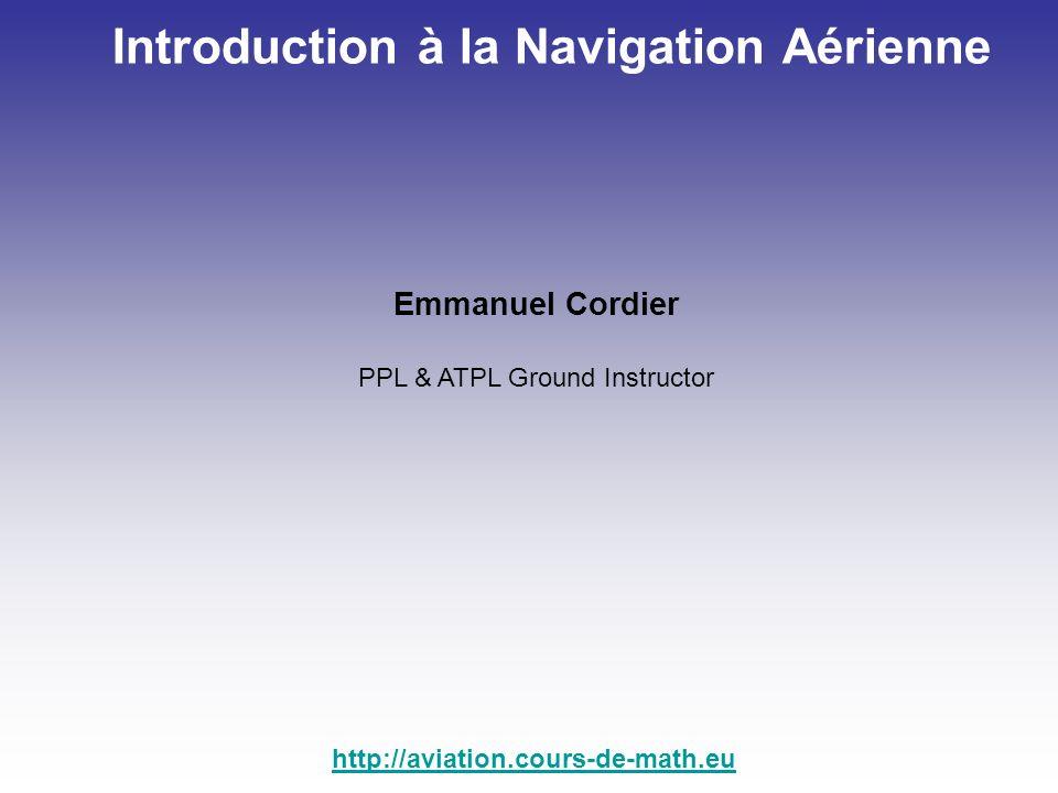 Exercice : (résoudre à laide de la table des sinus et cosinus) En vol, sur un cap 120°, vous subissez un vent du 337°/35 Kt.