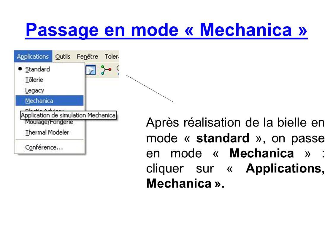 Création dune analyse statique (1) Cliquer sur « Analyse, Analyses/Études Mechanica ».