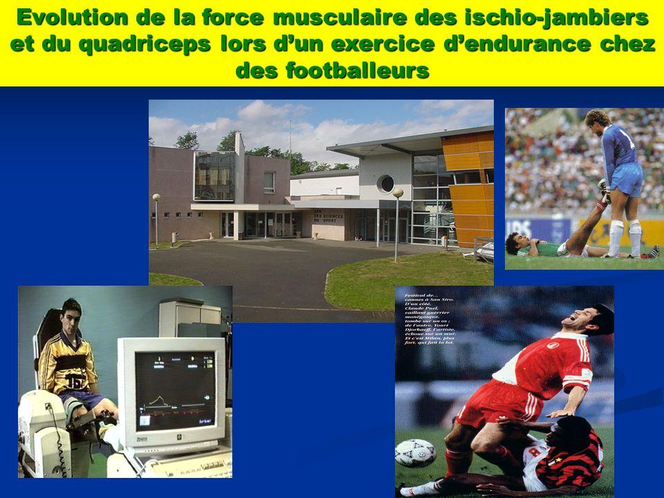 Evolution de la force musculaire des ischio-jambiers et du quadriceps lors dun exercice dendurance chez des footballeurs