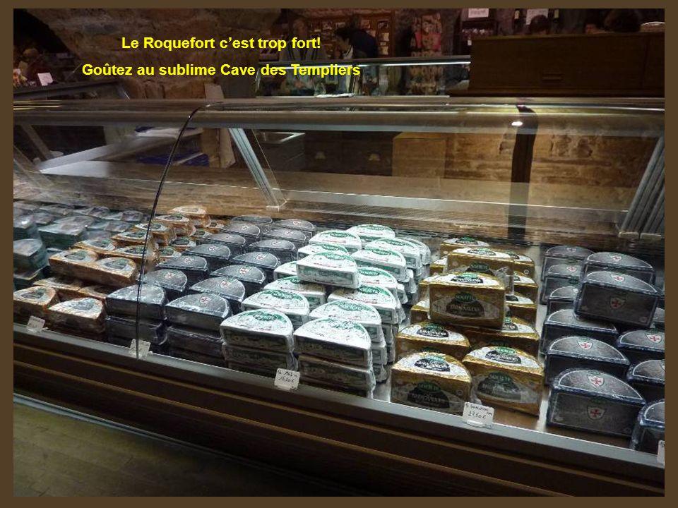 Dans les éboulis du Combalou caussenard, Roquefort, célèbre pour son roi des fromages