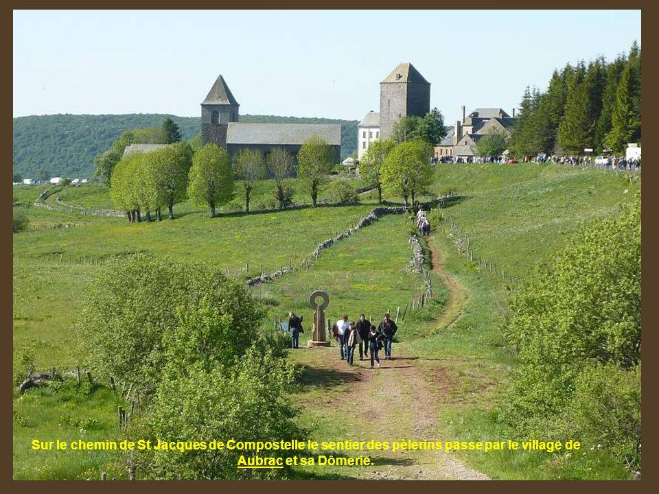 Sur le chemin de St Jacques de Compostelle le sentier des pèlerins passe par le village de Aubrac et sa Dômerie.