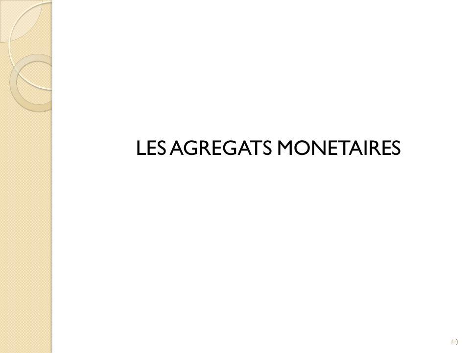 LES AGREGATS MONETAIRES 40