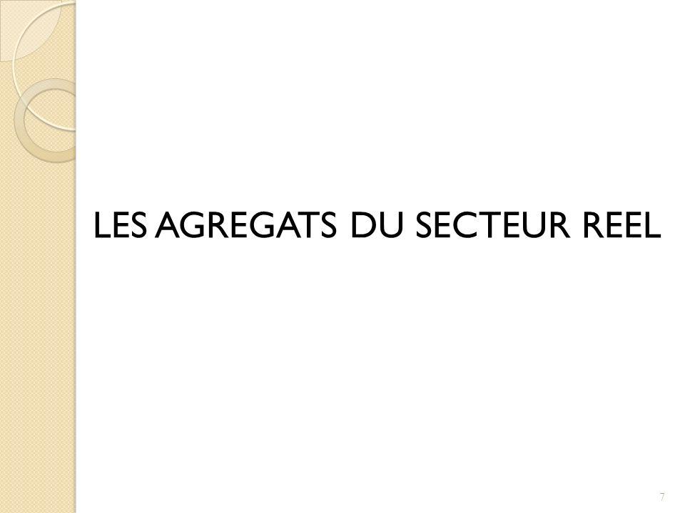 LES AGREGATS DU SECTEUR REEL 7