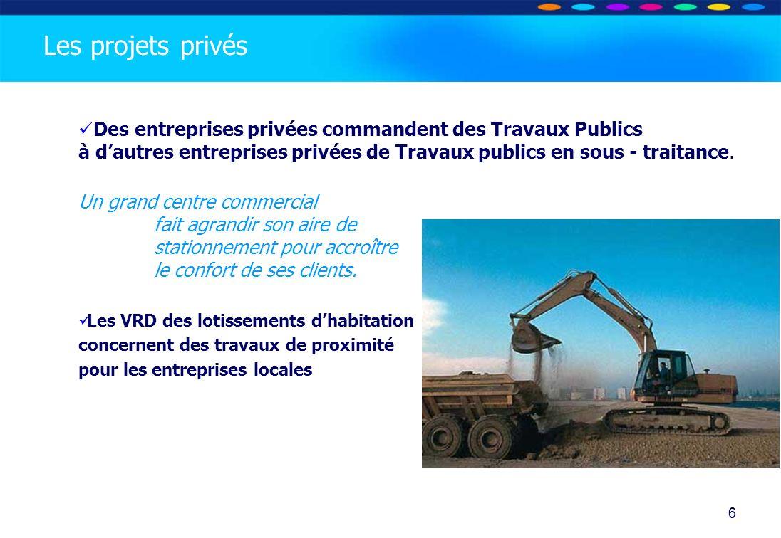 O PT IO 6 Des entreprises privées commandent des Travaux Publics à dautres entreprises privées de Travaux publics en sous - traitance. Un grand centre