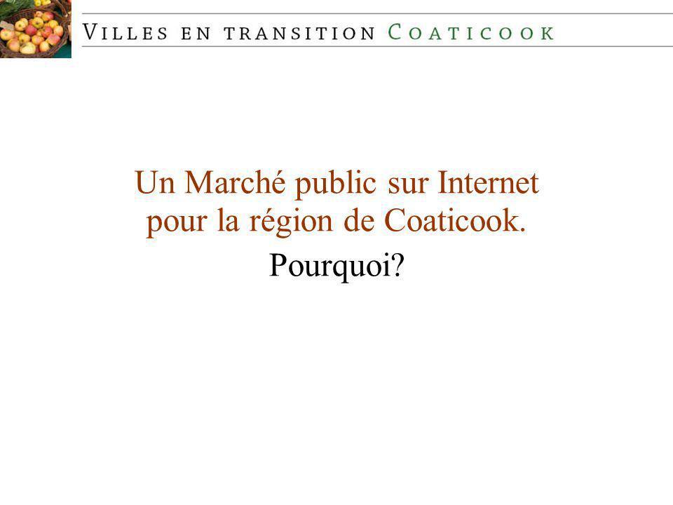 Un Marché public sur Internet pour la région de Coaticook. Pourquoi