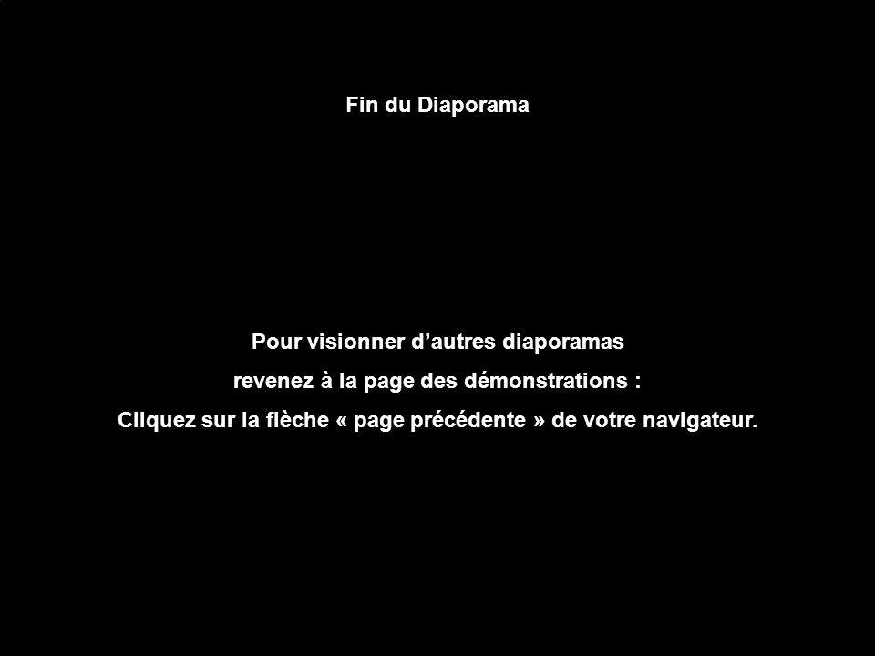 Fin du Diaporama Pour visionner dautres diaporamas revenez à la page des démonstrations : Cliquez sur la flèche « page précédente » de votre navigateur.