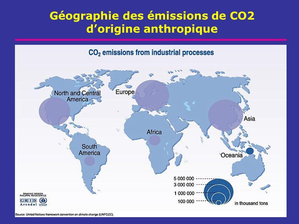 Géographie des émissions de CO2 dorigine anthropique