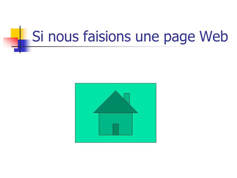 Si nous faisions une page Web
