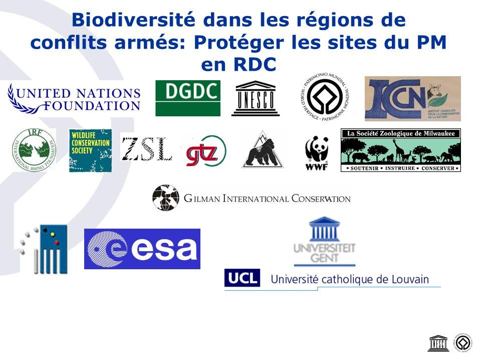 Biodiversité dans les régions de conflits armés: Protéger les sites du PM en RDC