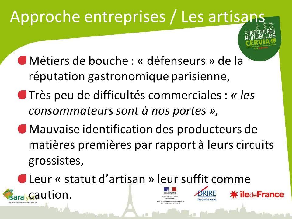 Métiers de bouche : « défenseurs » de la réputation gastronomique parisienne, Très peu de difficultés commerciales : « les consommateurs sont à nos po