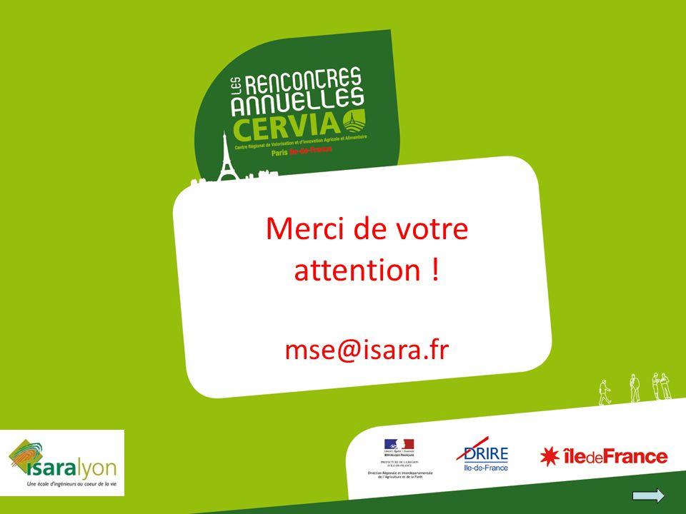 Merci de votre attention ! mse@isara.fr