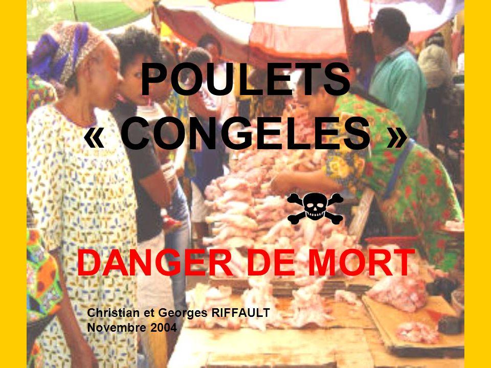POULETS « CONGELES » DANGER DE MORT Christian et Georges RIFFAULT Novembre 2004