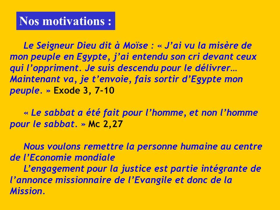 Le Seigneur Dieu dit à Moïse : « Jai vu la misère de mon peuple en Egypte, jai entendu son cri devant ceux qui loppriment. Je suis descendu pour le dé