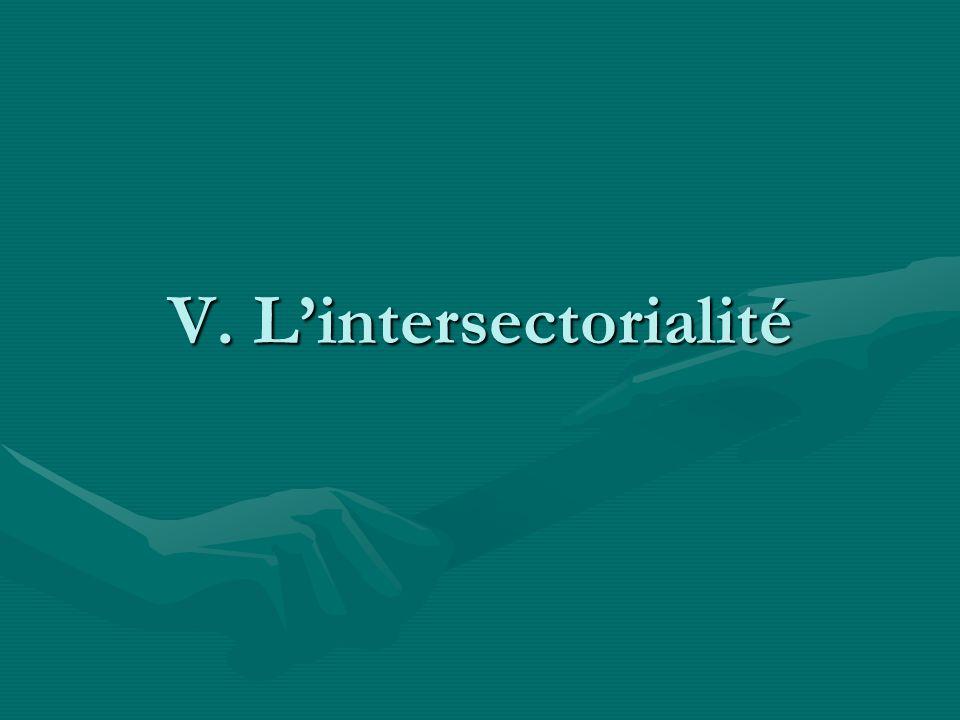 V. Lintersectorialité