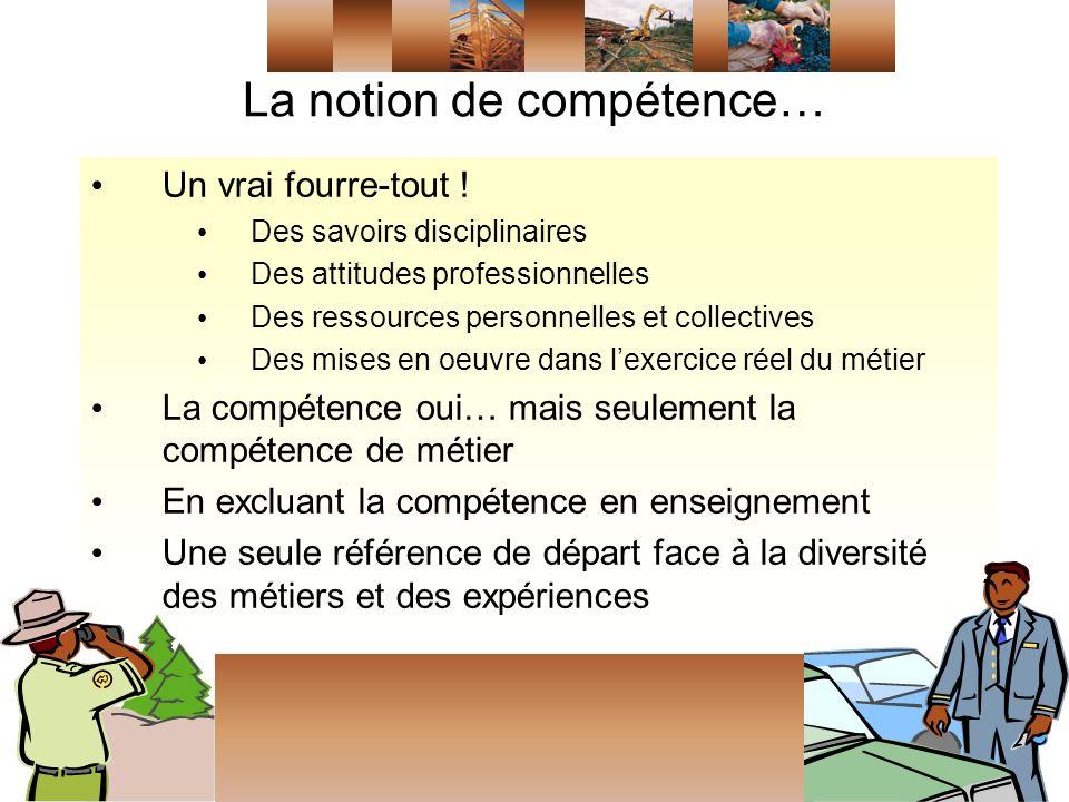 La notion de compétence… Un vrai fourre-tout .