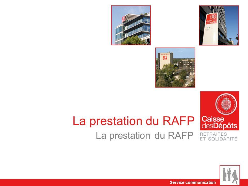 Service communication La prestation du RAFP