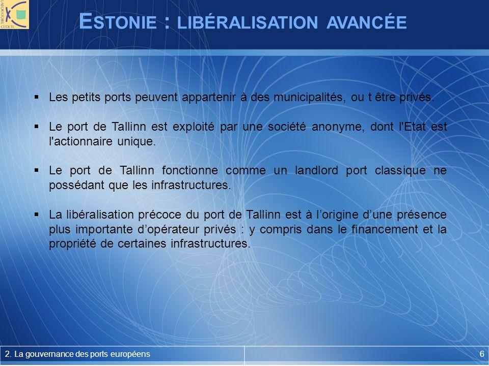 E STONIE : LIBÉRALISATION AVANCÉE 2.