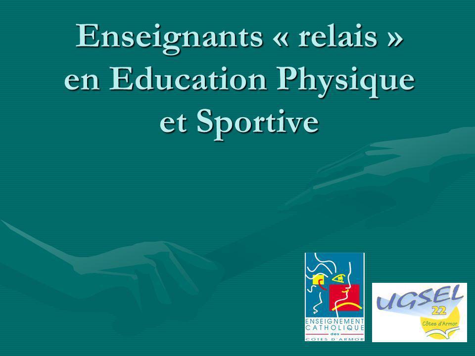 Enseignants « relais » en Education Physique et Sportive